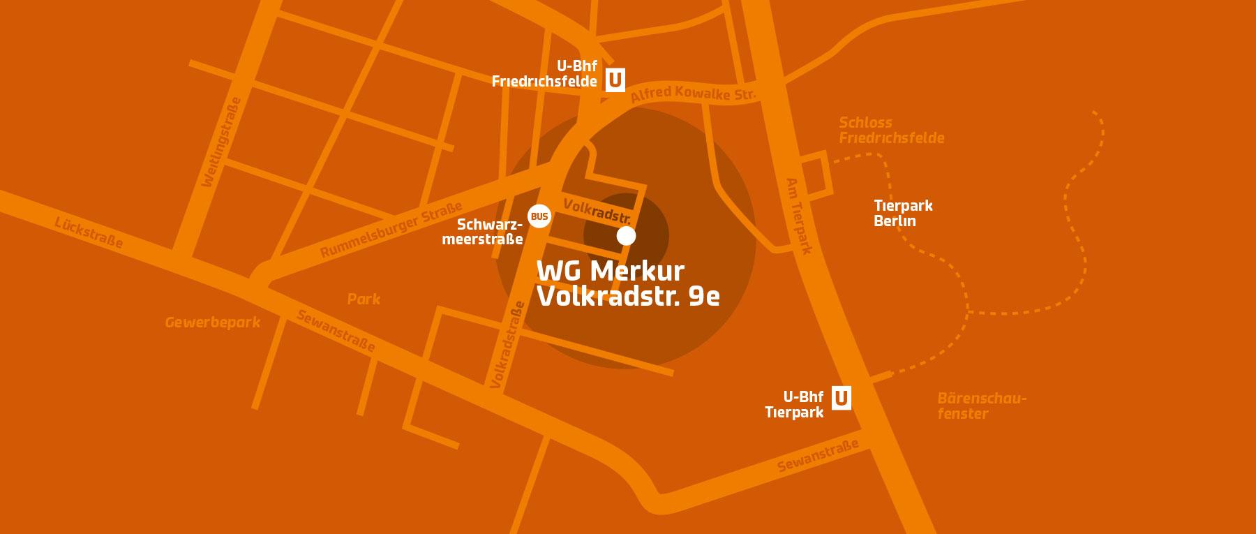Hier finden Sie uns: Volkradstr. 9e, 10319 Berlin